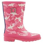 Girls' Joules® Camo Welly Rain Boots - Pink