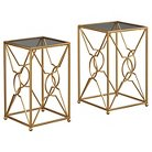 Marxim Nesting End Tables Gold Finish (Set of 2) - Signature Design by Ashley