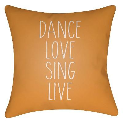 "Inspire  Throw Pillow - Dark Orange - 20"" x 20"" - Surya"