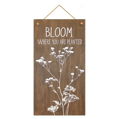 12x22 Bloom Where You Are Planted Plank Art