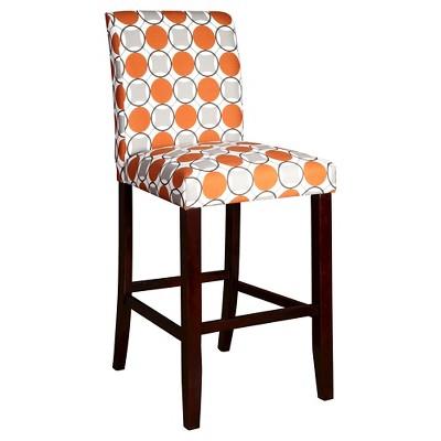 """Circle 29.5"""" Barstool Wood/Orange/Gray - Powell Company"""