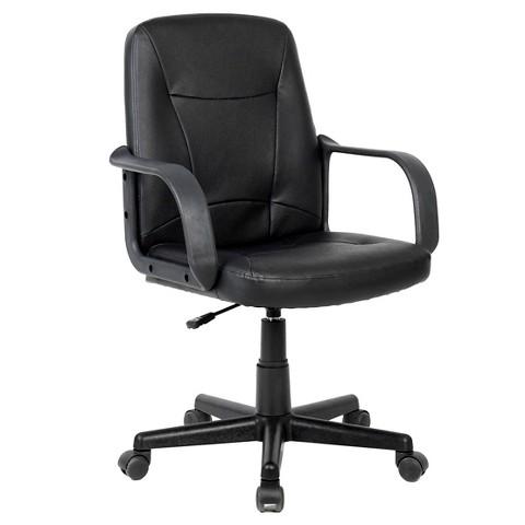 Workspace Leatherette fice Desk Chair Black Tar