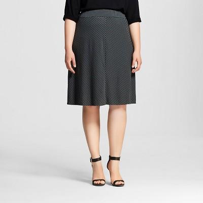 Women's Plus Size Casual Knit Skirt - Ava & Viv™