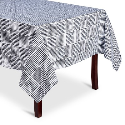 "Threshold™ Rope Print Tablecloth - Navy/White (60x84"")"