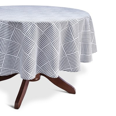 Threshold™ Rope Print Tablecloth - Navy/White (70  Round)