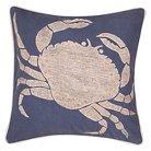"Coastal Crab Retreat Throw Pillow Blue (18""x18"") - Jaipur"