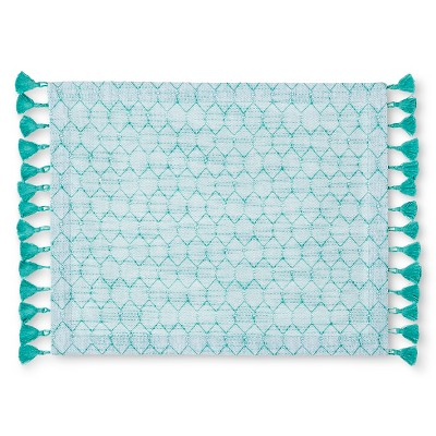 Threshold™ Woven Geo Placemat - Green Mint