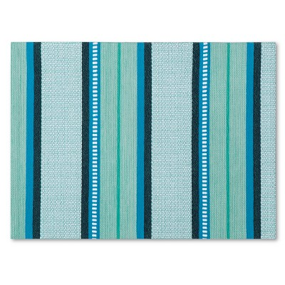Threshold™ Stripe Placemat - Blue/Green