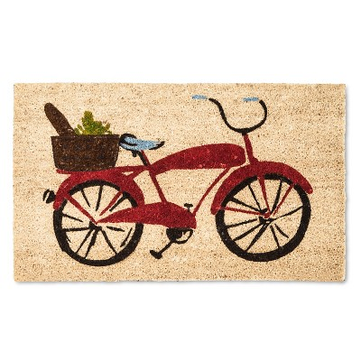 "Doormat Red Bicycle 18""x30"" - Threshold™"