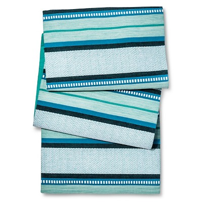 Threshold™ Stripe Table Runner - Blue/Green