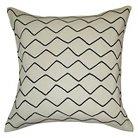Zig Zag Embroidered Pillow White/Black - Threshold™