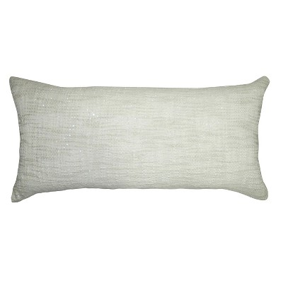 "Threshold™ Lumber Pillow With Frayed Fringe - Blue (12""X20"")"
