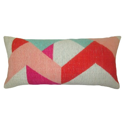 Yarn Dyed Lumbar Pillow - Pink - Threshold™