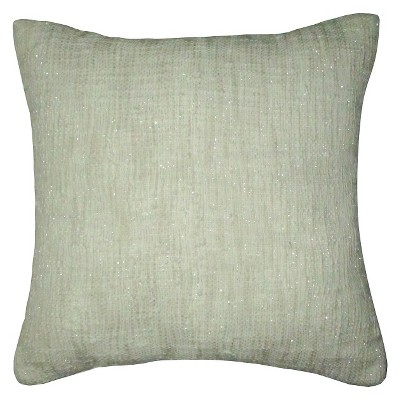 "Threshold™ Embroidery Pillow - Beige (18""X18"")"