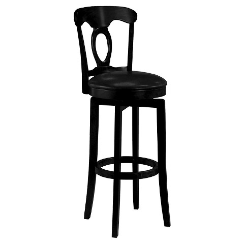 corsica swivel 25 counter stool wood black hillsdale furniture