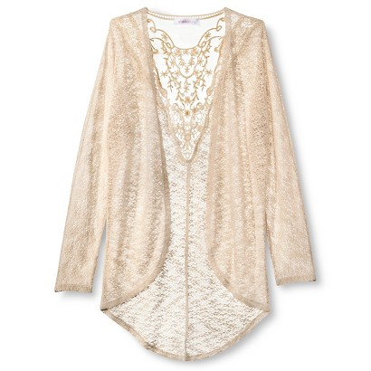 Girls' Crochet Layering Cardigans  - Xhilaration&#153 - Natural