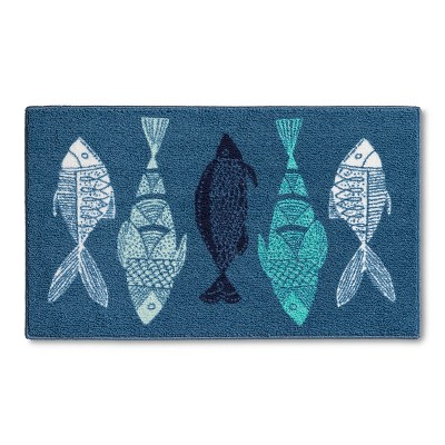 Fish Kitchen Rug Blue (30x46) - Threshold ™