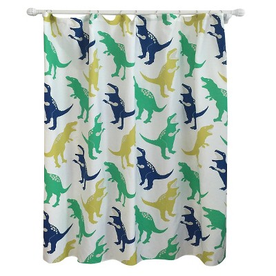 Dinosaur Shower Curtain Green - Pillowfort™