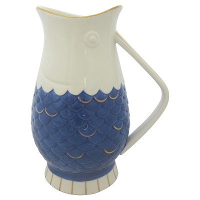 Stoneware Fish Pitcher - Blue - Threshold™