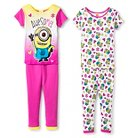 Minions Girls' 4-Piece Pajama Set - Multicolored 4