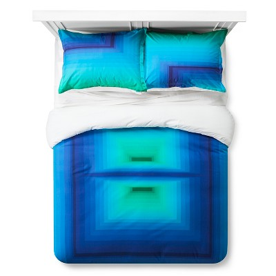 Artwork Series: 'Design 2' by James Marshall Duvet Cover Set (Full/Queen) Multicolor - AiR™