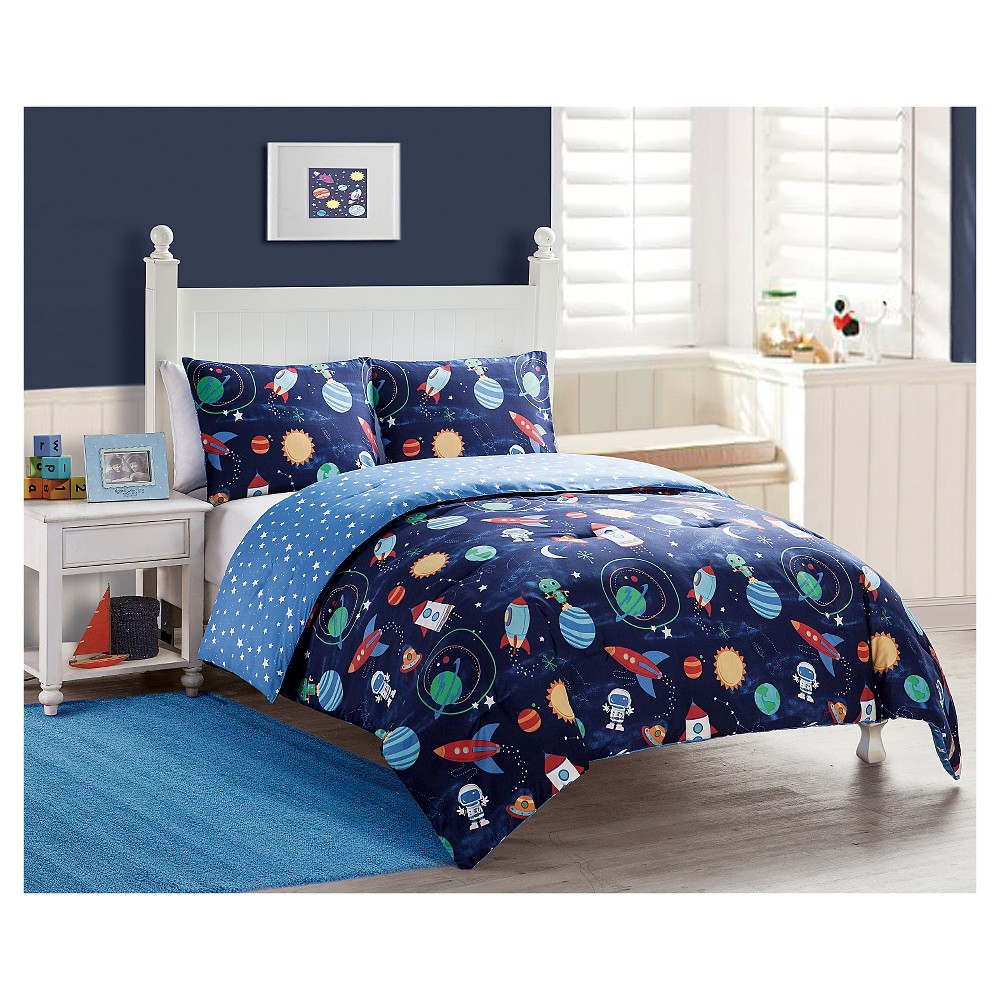 Big Believers Out of this World 2 Piece Comforter Set - Blue (Twin)