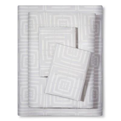 Sheet Set Linear Block (Full) Cream - Nate Berkus™
