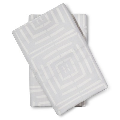 Pillow Case Set Linear Block (Standard) - Nate Berkus™