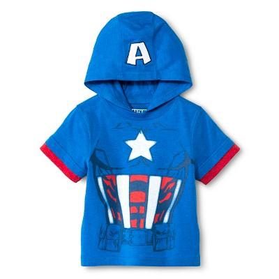 Toddler Boys'  Hooded Avengers Costume T-Shirt - Blue 12M