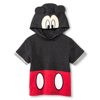 Toddler Boys' Mickey Mouse Tee Shirt - Black 12M