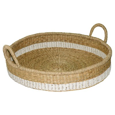Seagrass & Palm Leaf Tray - Threshold™