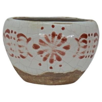 Crackle Glaze Painted Bowl White - Nate Berkus™