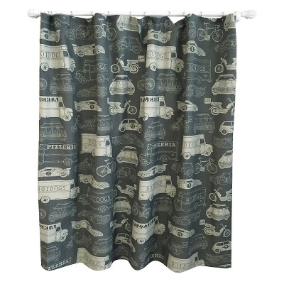 Transportation Shower Curtain Calm Gray - Pillowfort™