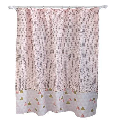 Triangle Shower Curtain Pink Smoothie - Pillowfort™