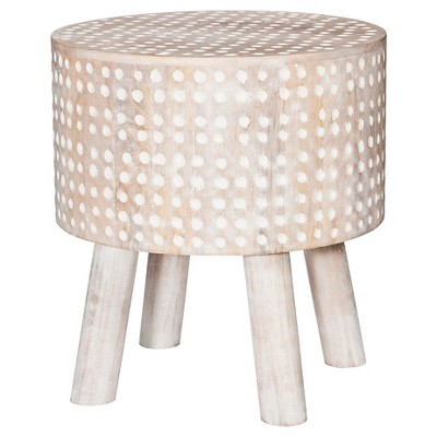 Carved Wood Round Stool - Threshold™