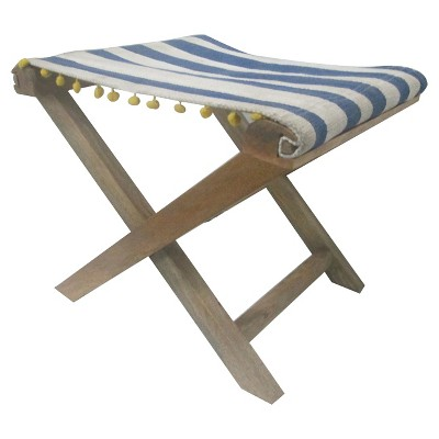 Striped Wooden Folding Stool - Threshold™