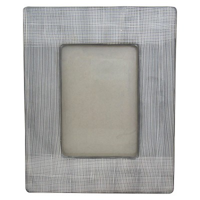 "Cross Hatch Ceramic Photo Frame  4""x6"" - Nate Berkus™"
