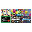 Teacher Created Resources Postcard Pack with 30 Each of Six Designs, 4 x 6, 180 Cards/Pack