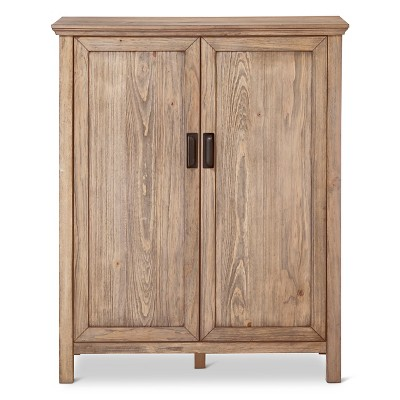 Gilford Rustic Bar Cabinet - Gray - Threshold™