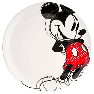 Mickey with Red Sketch 10in Dinner Plate