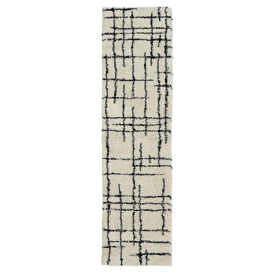 "Runner Linear Shag Cream 24""x36"" - Nate Berkus™"
