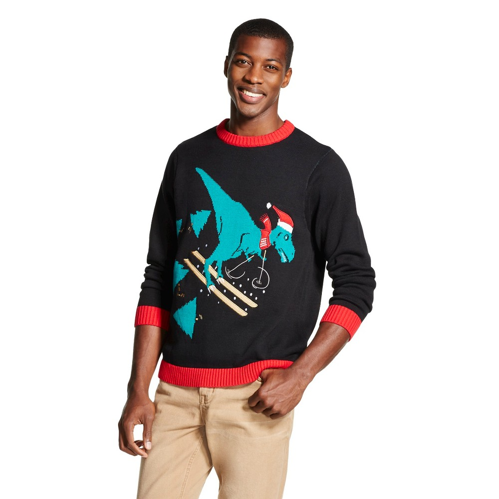 Upc 789050709032 Mens T Rex Ugly Christmas Sweater Black 33