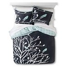 Birds and Branches Duvet Cover Set (Twin) Grey