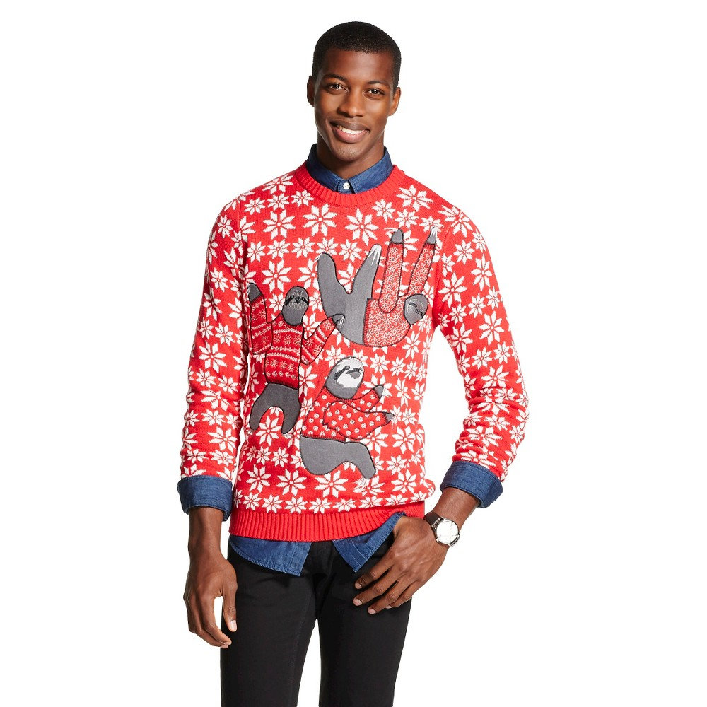 Upc 789050697407 Mens Sloth Ugly Christmas Sweater Red 33