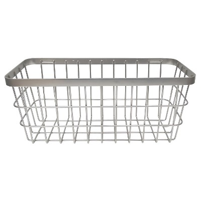 Threshold™ Large Metal Storage Ladder Basket - Brushed Nickel