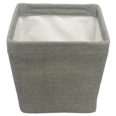 Threshold™ Canvas Storage Ladder Basket Grey