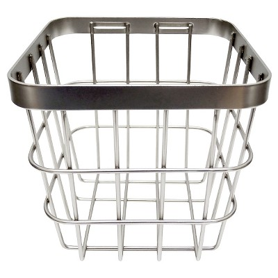Threshold™ Small Metal Storage Ladder Basket - Brushed Nickel