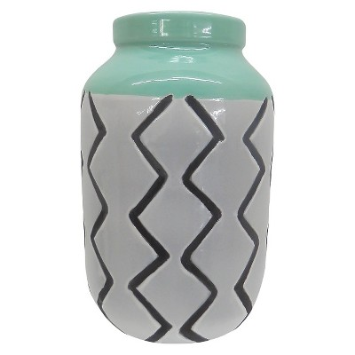 Threshold™ Stripe Ceramic Vase - Green