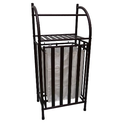 Threshold™ Metal Hamper with Linen Insert - Oil Rubbed Bronze