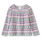 Toddler Girls' Long-Sleeve Fairisle Thermal T-Shirt - Mesa Gray 2T